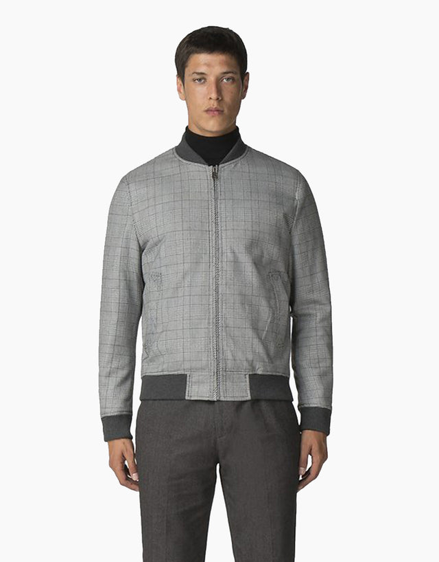 Ben Sherman Checked Black Bomber Jacket