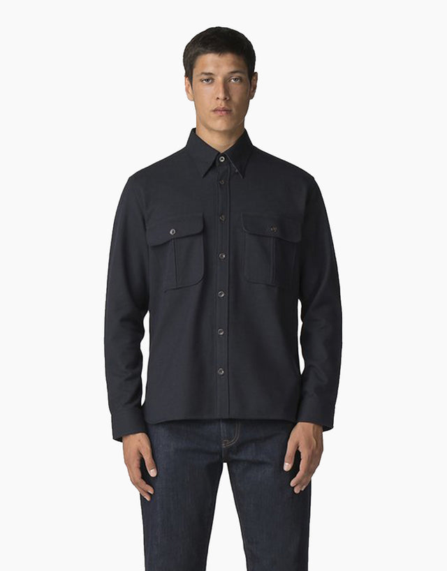 Ben Sherman Navy Wool Utility Shirt