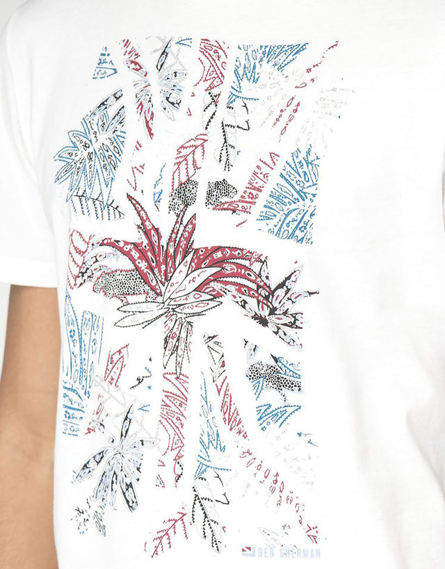 Ben Sherman White Tropical Union TShirt