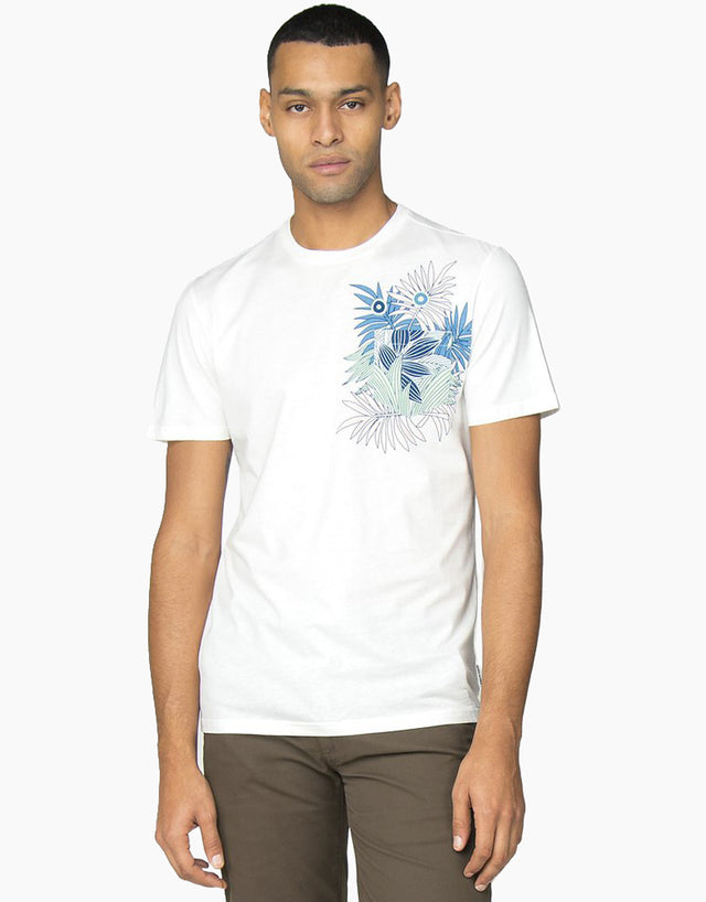 Ben Sherman White Tropical T-Shirt