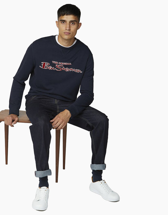 Ben Sherman Navy Logo Jumper