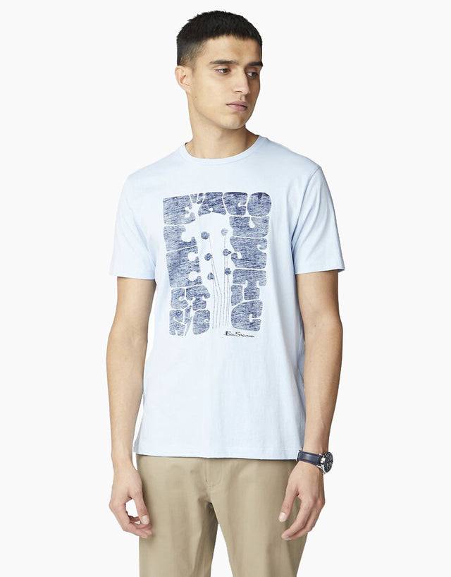 Ben Sherman Sky Blue Guitair Head T-Shirt
