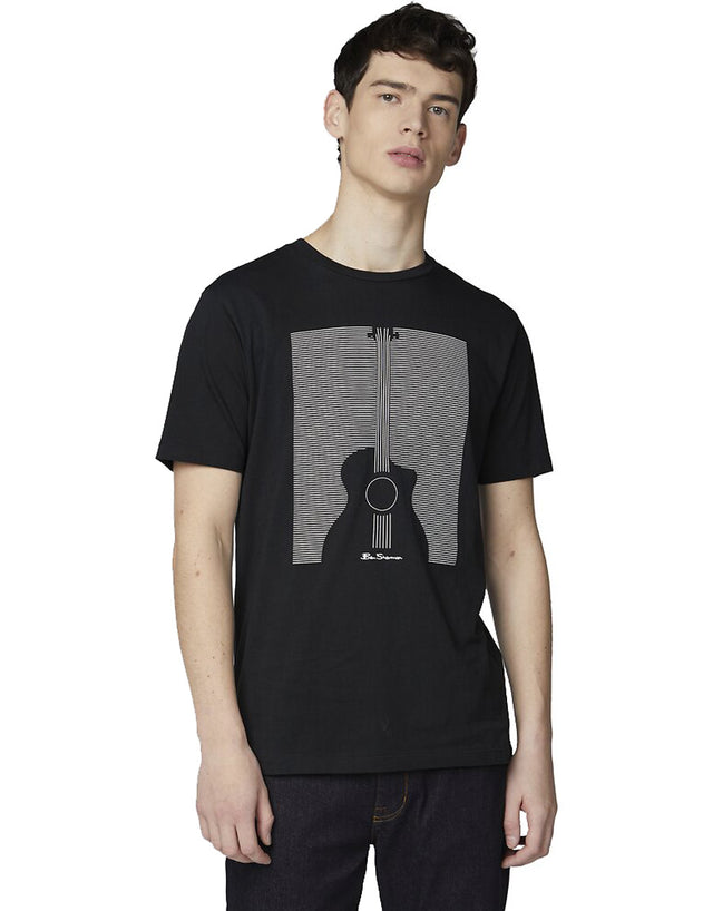 Ben Sherman Black Pinbar T-Shirt