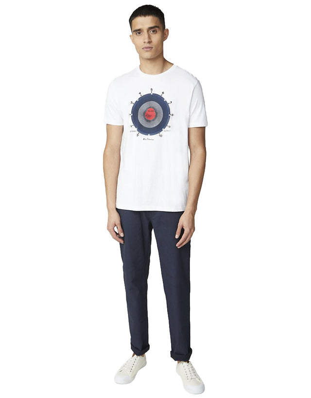 Ben Sherman White Equipment Target T-Shirt
