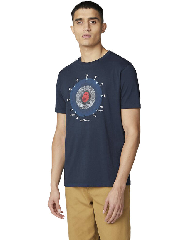 Ben Sherman Navy Equipment Target T-Shirt