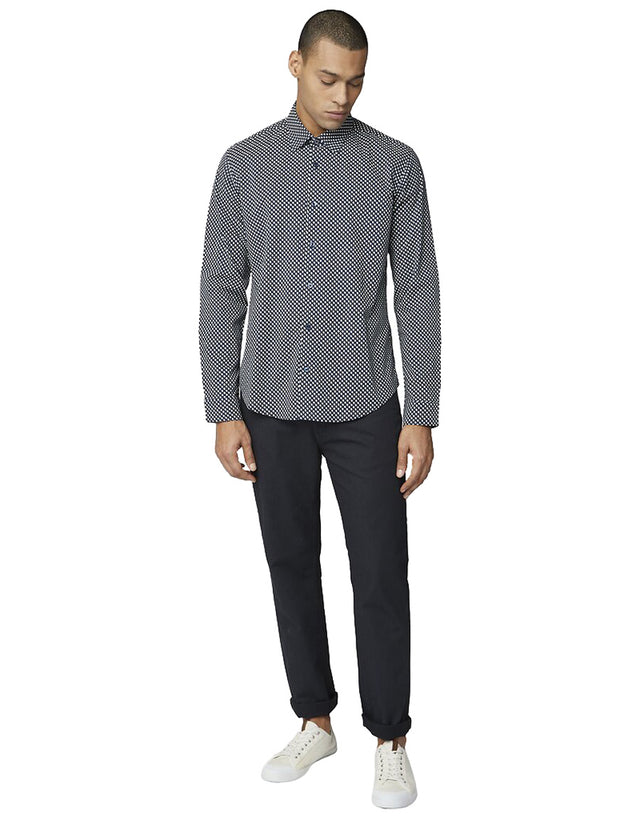 Ben Sherman Navy One Print Shirt