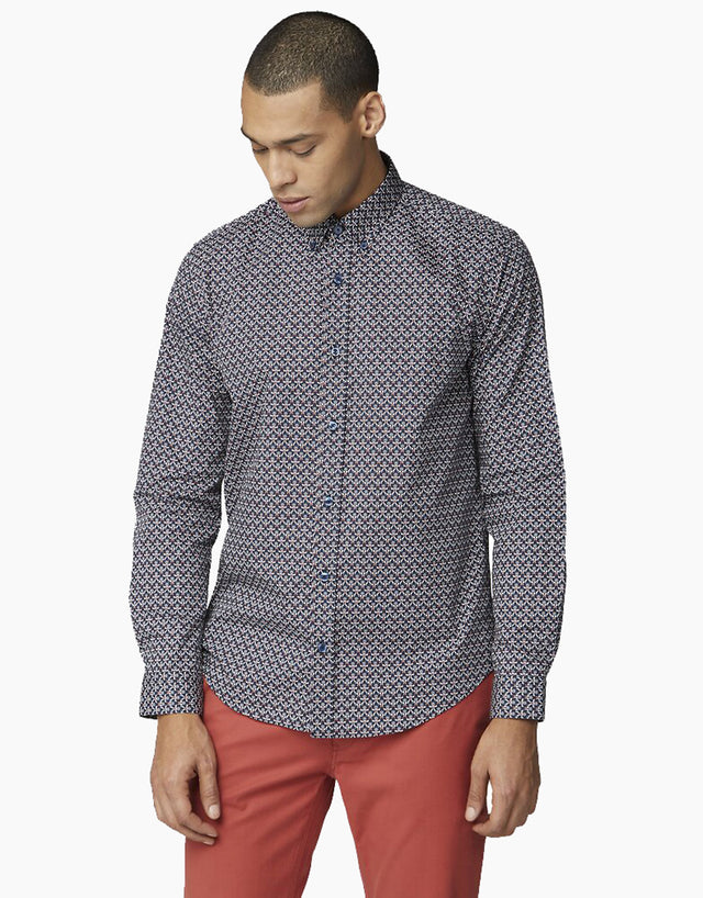 Ben Sherman Navy 2 Colour Print Shirt
