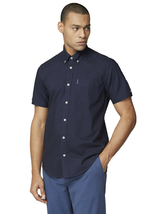 Ben Sherman Navy Signature Oxford Short Sleeve Shirt