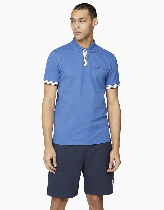 Ben Sherman Royal Blue Mod Stripe Polo Shirt