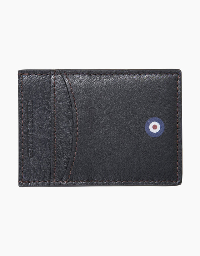 Ben Sherman Black Hector Leather Cardholder