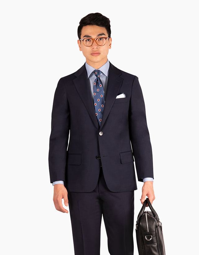 Solano Navy Travel Suit Jacket