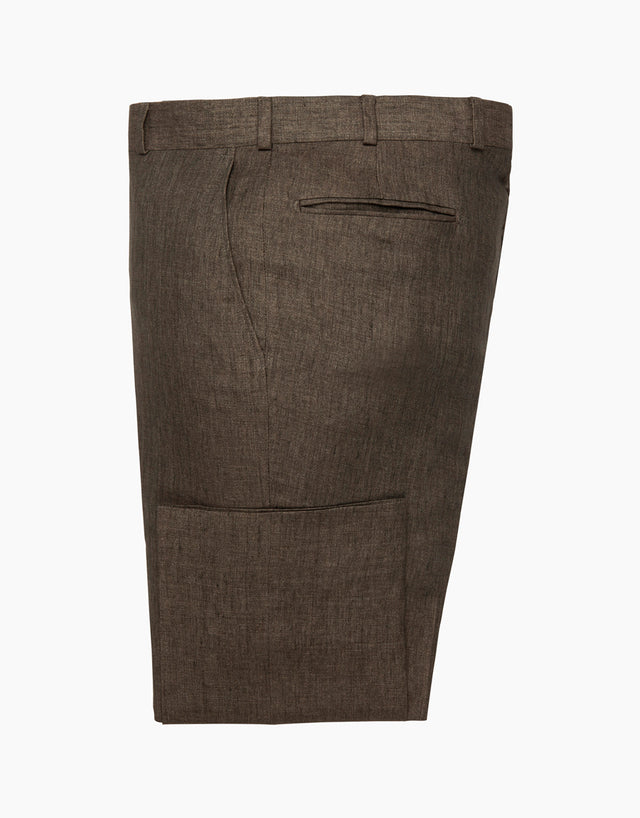 Lotus Brown Linen Trouser