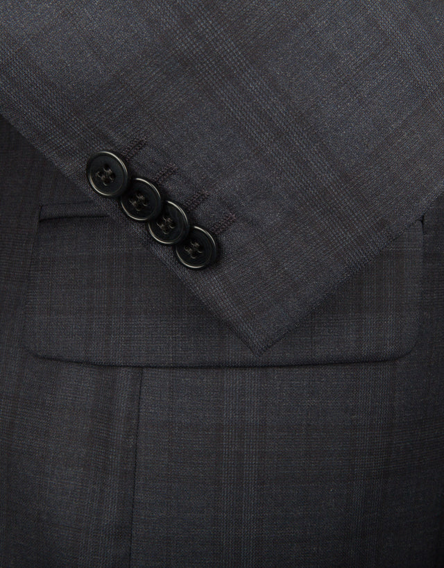 Cooper Navy Check Suit