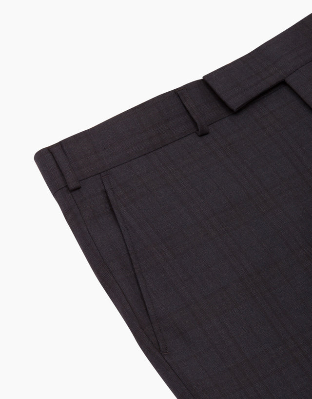 Lotus Navy Check Suit Trouser