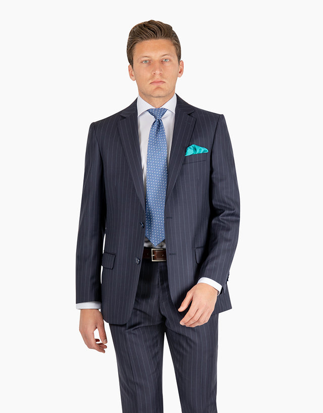 Cooper Navy Pinstripe Suit Jacket