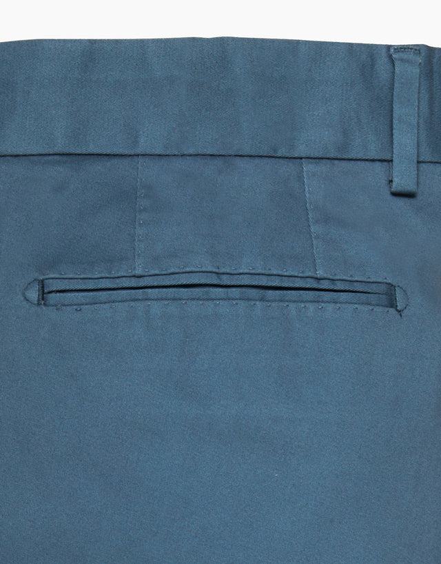 Beck Blue Twill Washed Chinos