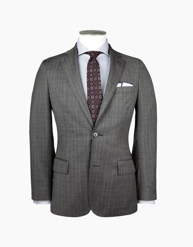 Lewis Black & Grey Check Suit