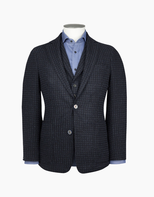 Sheen navy textured blazer