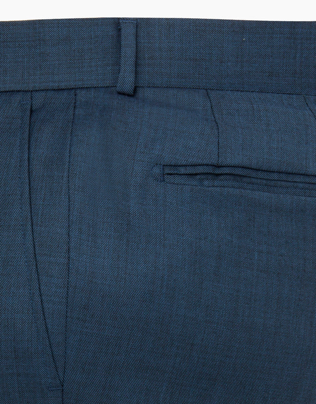 Punk Navy Sharkskin Suit Trouser