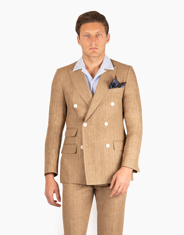 Henry Taupe Herringbone Suit Jacket