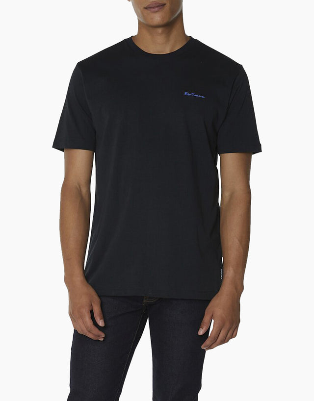 Ben Sherman black chest embroidery t-shirt