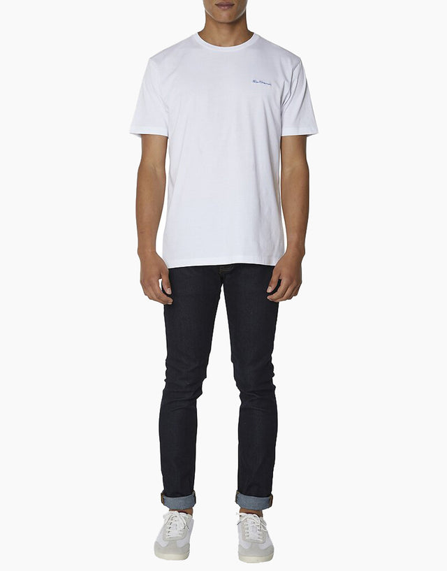 Ben Sherman white chest embroidery t-shirt