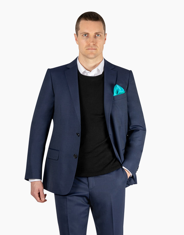 Cooper Navy Pindot Suit Jacket
