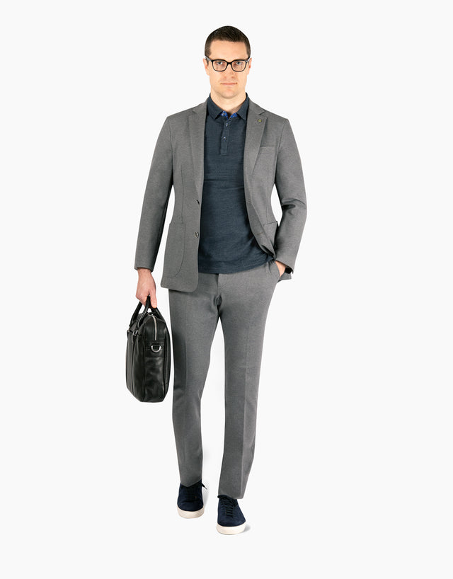 Sheen Grey Marle Knit Blazer