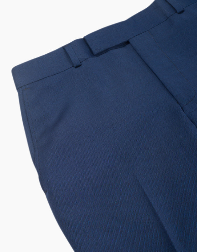 Punk blue textured trouser