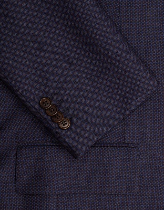 Hawke navy check suit
