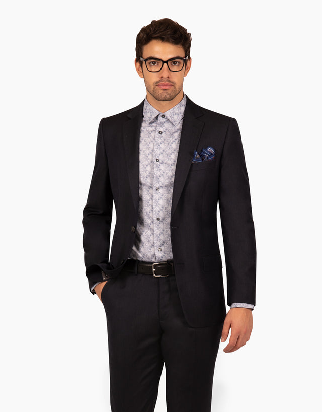 Hawke navy textured two piece suit
