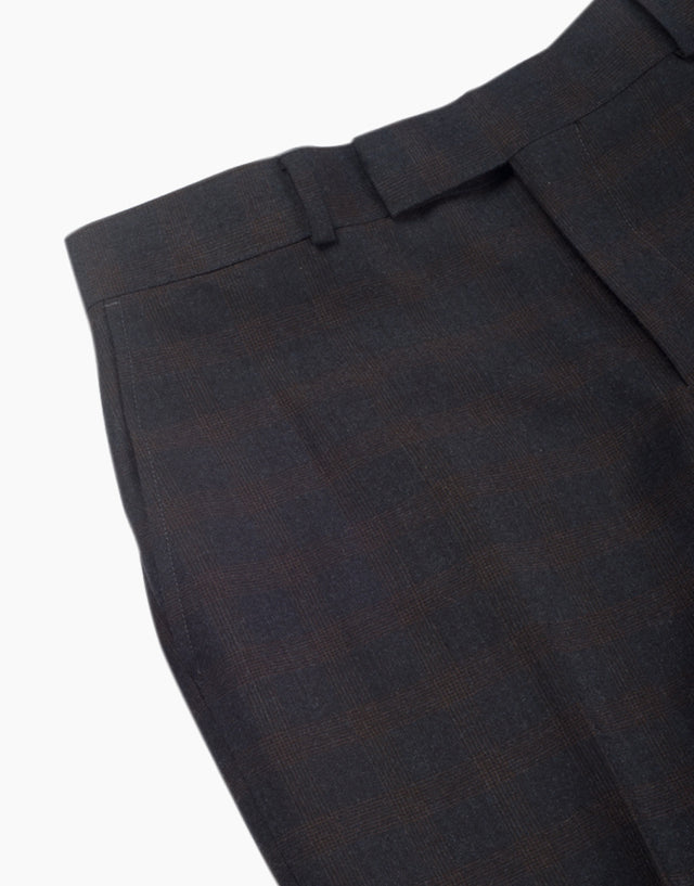Astor charcoal check trouser