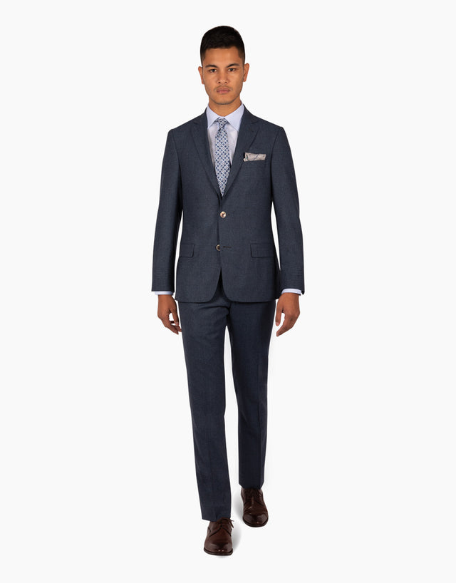 Blake blue check suit