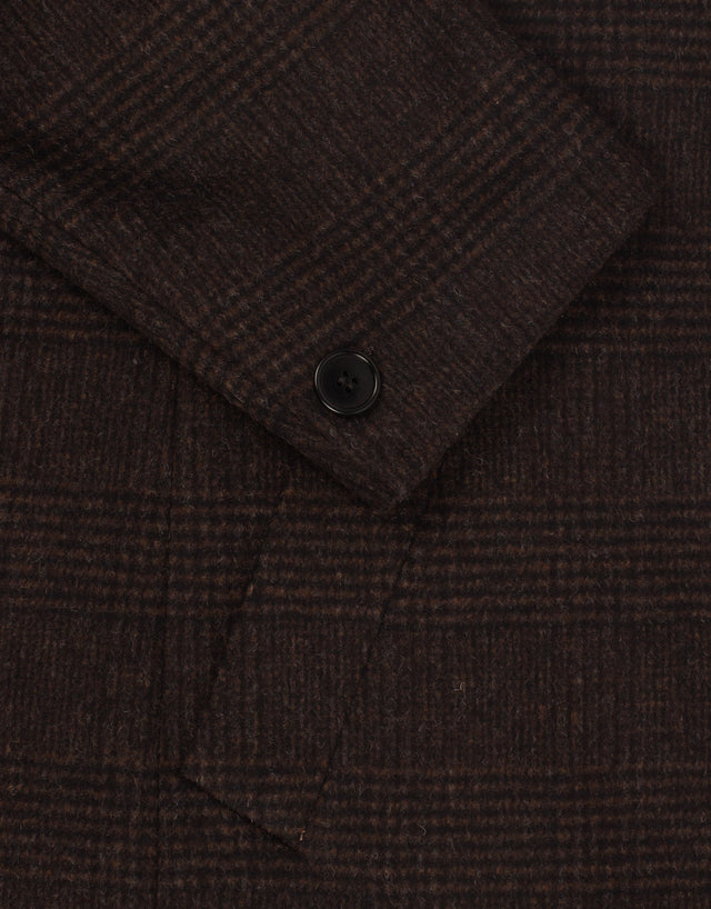 Lochiel chocolate check carcoat