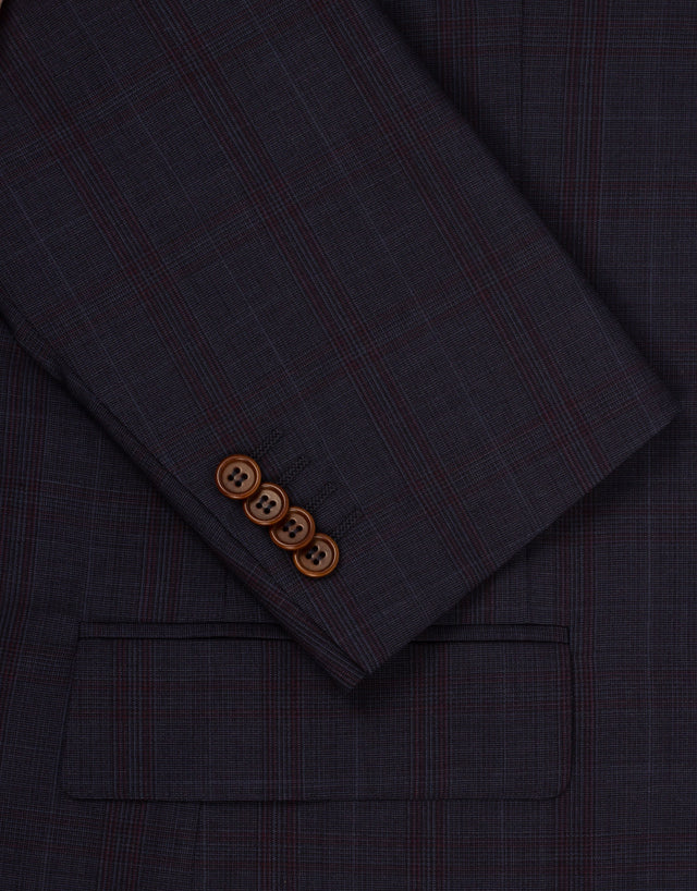 Hawke navy check two piece suit