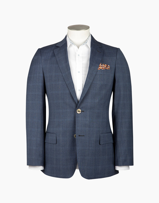 Lewis blue check jacket