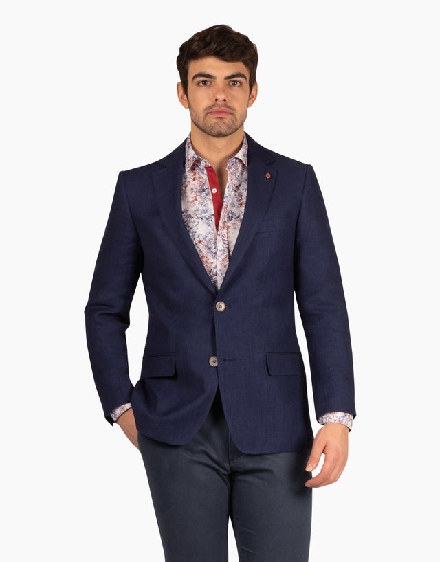 Hawker navy textured blazer