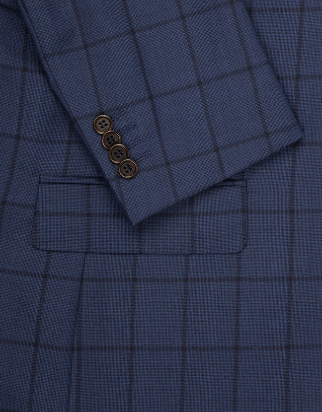 Hawke blue check suit