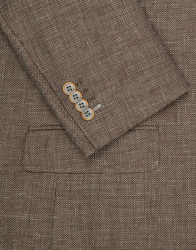 Hawker brown textured blazer