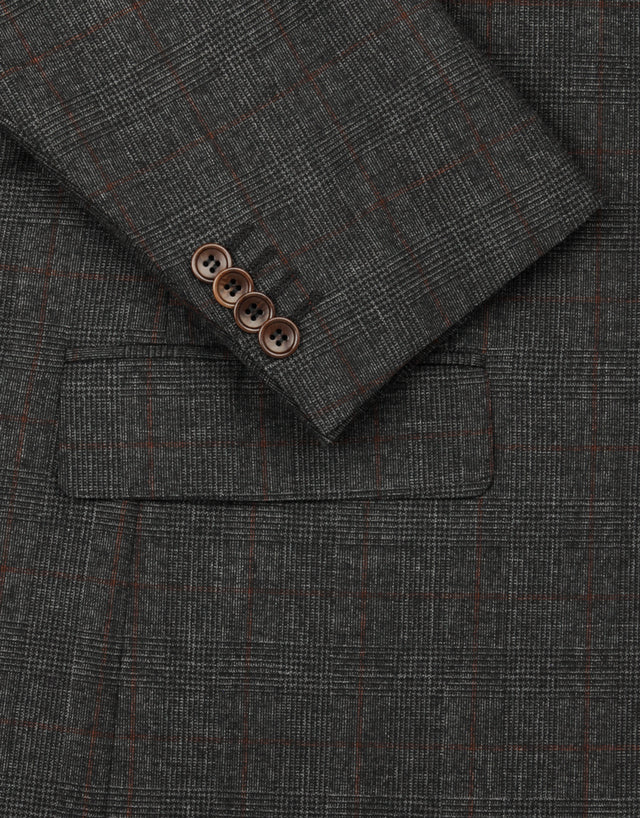 Blake charcoal check suit jacket