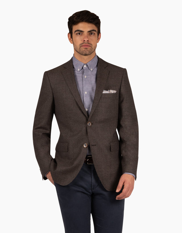 Hawker chocolate textured blazer