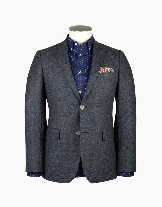 Hawker blue textured blazer