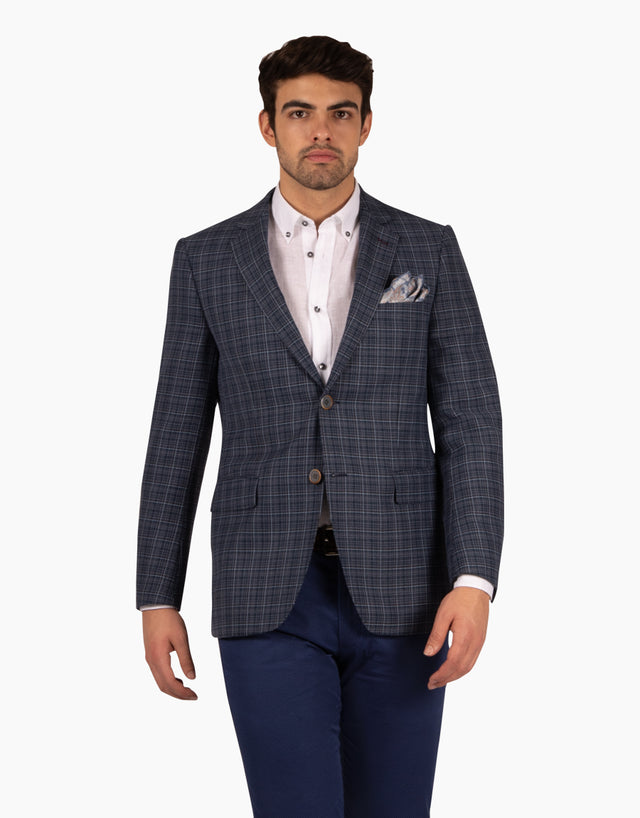 Hawker blue check blazer