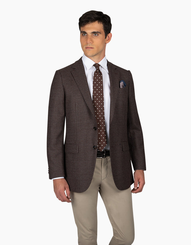 Cooper Chocolate & Grey Blazer