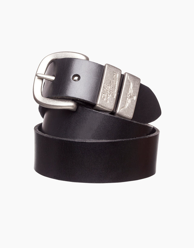 R.M. Williams Black Solid Hide Belt