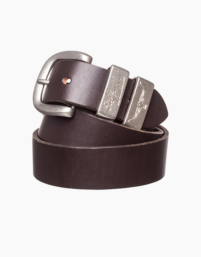 R.M. Williams Chestnut Solid Hide Belt