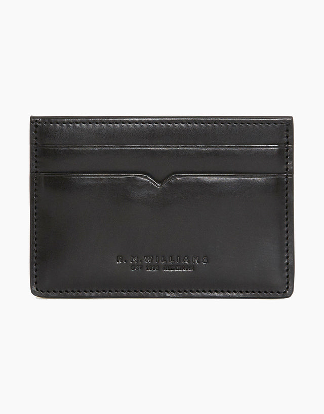 R.M. Williams City Black Credit Card Holder
