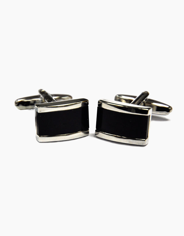 Retangle Black Cufflinks