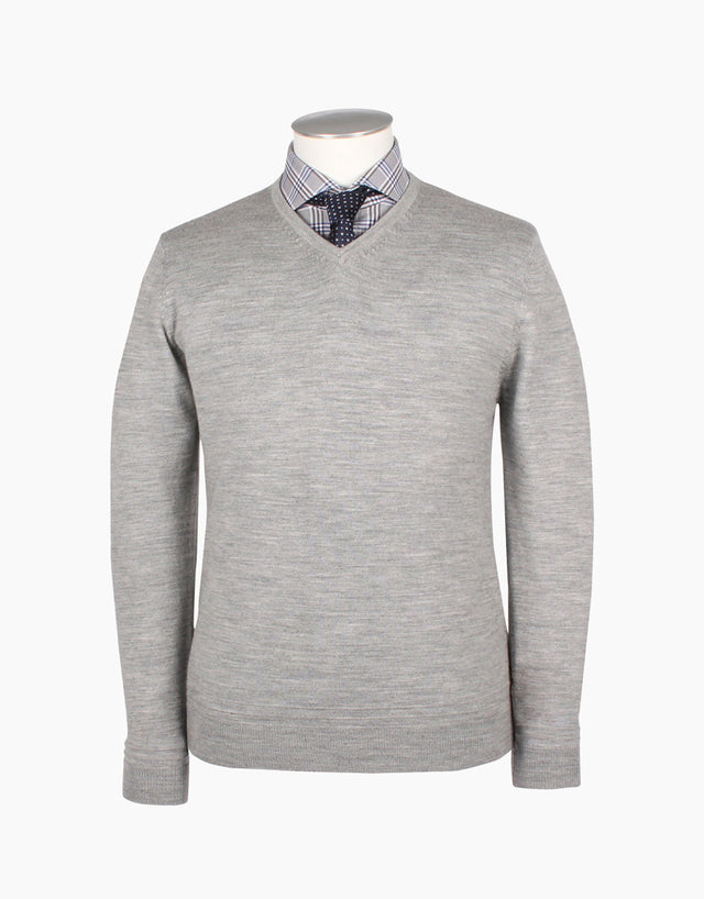 Fairlie Grey V-Neck Jersey