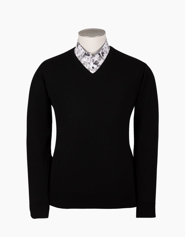 Fairlie Black V-Neck Jersey